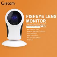 Security Wireless CCTV Fisheye WiFi IP Mini Camera P2P IR Night Vision