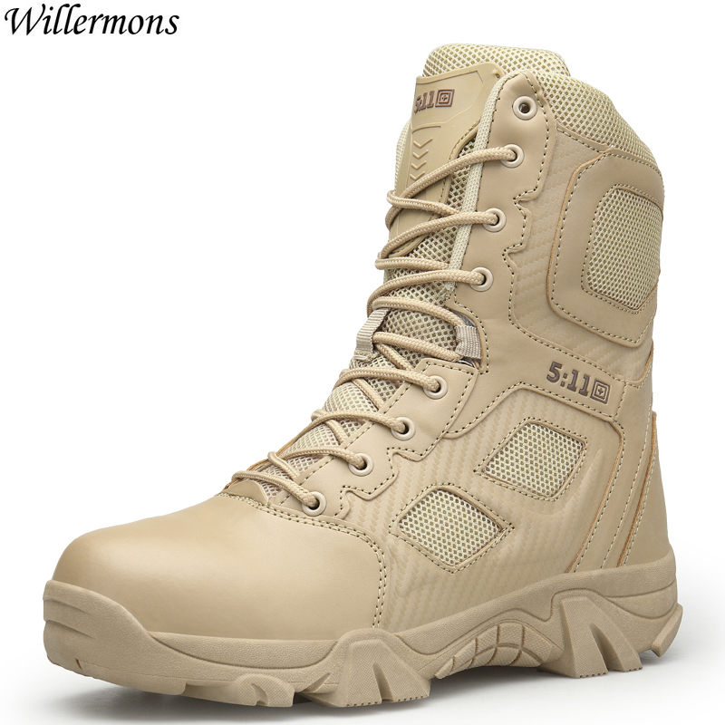 Men s Outdoor Military Desert Combat Boots Men Army Tactical Ankle Boots Botas Tacticos Zapatos