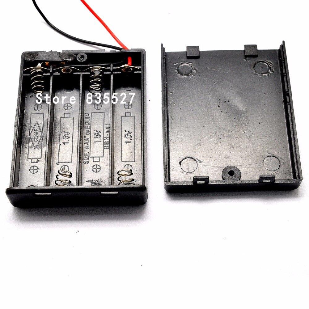 Supporto di Quattro Contenitore di Batteria AAA da 6 Volt della batteria Caso Con ON/OFF interruttore e la copertura 4 x AAA Nero omnisealSupporto di Quattro Contenitore di Batteria AAA da 6 Volt della batteria Caso Con ON/OFF interruttore e la copertura 4 x AAA Nero omniseal