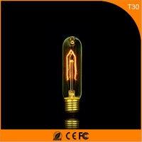 50Pcs Vintage Design Edison Filament E27 B22 LED Bulb ,T30 25W Energy Saving Decoration Lamp Replace Incandescent Light AC220V