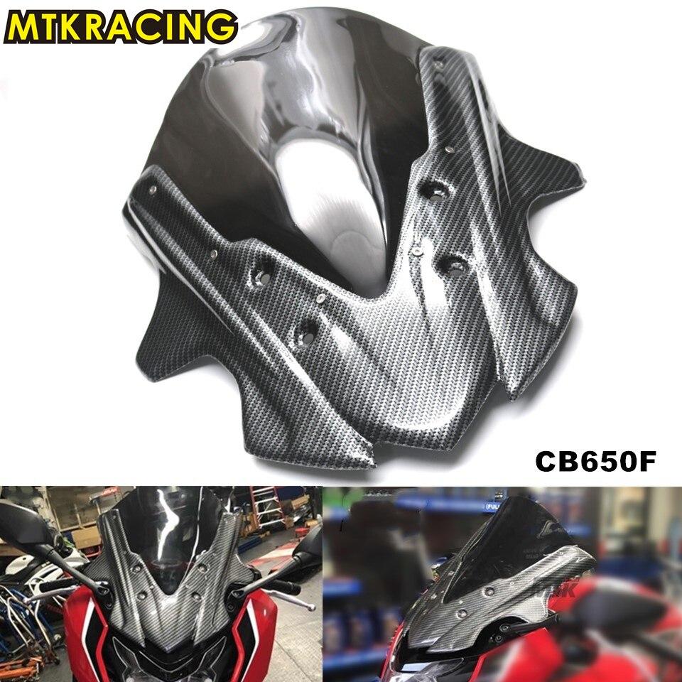 цена на MTKRACING For Honda CB650F 2017 Motorcycle Wind Shield Windshield Windscreen cb650f CBR 650 F 2017