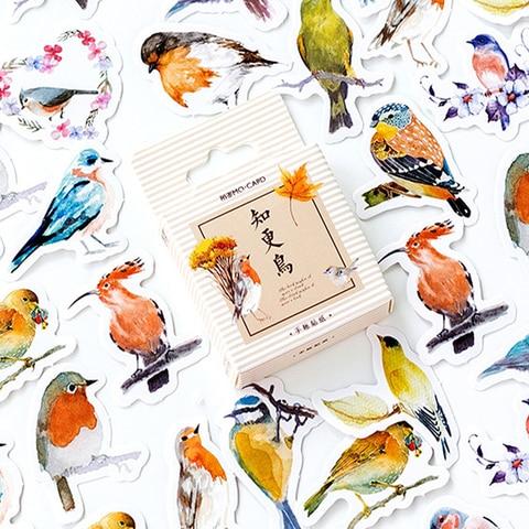 20 pacotes lote kawaii passaro robin adesivo de papel adesivo decoracao para casa scrapbook stickey