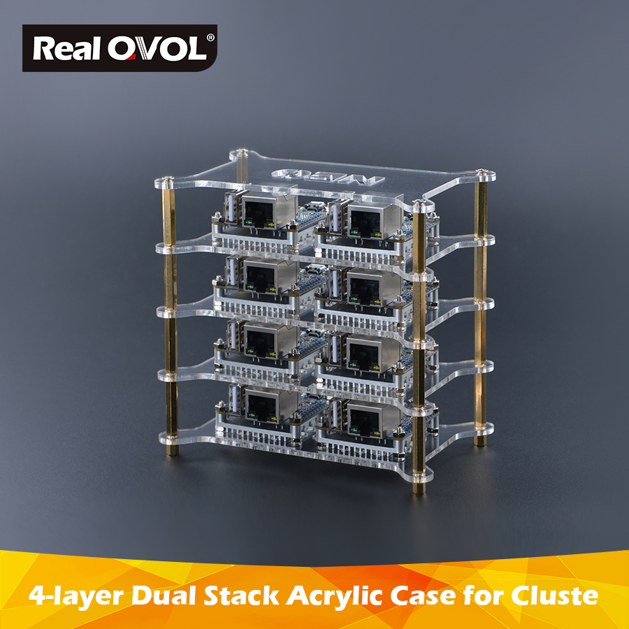 FriendlyARM 4-layer Dual Stack Acrylic Case For Cluster DIY,support Fit With NEO/NEO2/Air/Core/Core2/NEO Plus2