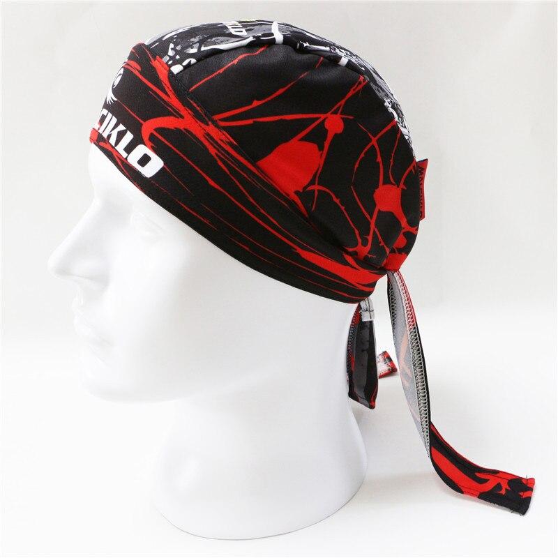 Hommes femmes crâne cyclisme casquette Pirate Ciclismo Cycle foulard vélo vélo Bandanas Anti sueur UV chapeaux Sport bandeau écharpe