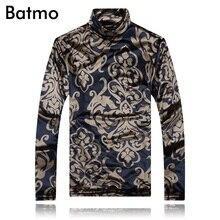 Batmo 2017 neue ankunft winter & herbst turtlenck dicke t-shirt männer, casual männer t-shirt, größe M, L, XL, XXL, XXXL, 4XL, 5XL TX100