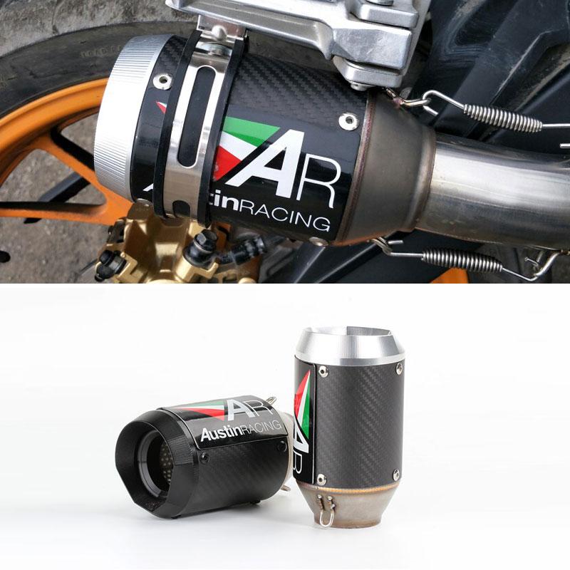 51mm Exhaust Motorcycle Austin Racing Akrapovic Echappement Moto Muffler For R6 Mt09 Ninja400/250 Z900 Z1000 Gsxr600 S1000rr ATV