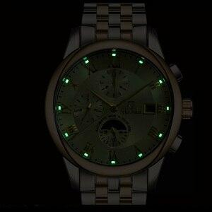 Image 5 - Herren Uhren Automatische Mechanische Uhr TEVISE Mond Phase Wasserdicht Leucht Datum Automatische Uhr Männer Junge Armbanduhren