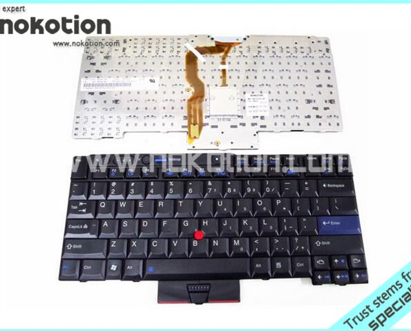 NOKOTION For lenovo thinkpad X220i T410i T410 T400S T410S T420 Laptop Keyboard Original warranty 30 days neworig keyboard bezel palmrest cover lenovo thinkpad t540p w54 touchpad without fingerprint 04x5544
