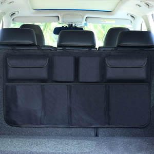 Car Trunk Organizer Net High Capacity Adjustable Backseat Storage Bag