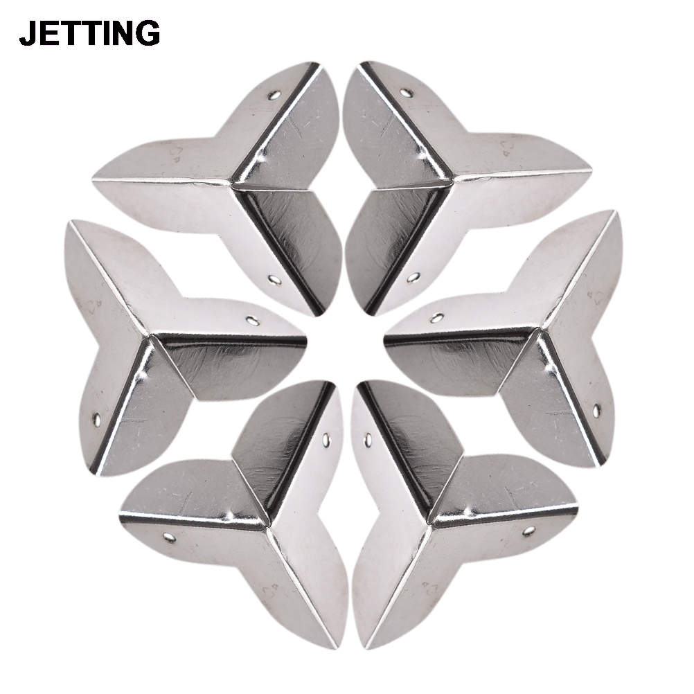 8PCS Luggage Case Box Corners Brackets Decorative Corner For Furniture Decorative Triangle 23mmX23mmX23mm