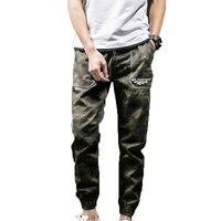 2017 Mode Masculine Armée Militaire Pantalon Long Automne Hiver Hommes de Camouflage Peinture Casual Mince Harem Pantalon Lâche Coton Travail pantalon