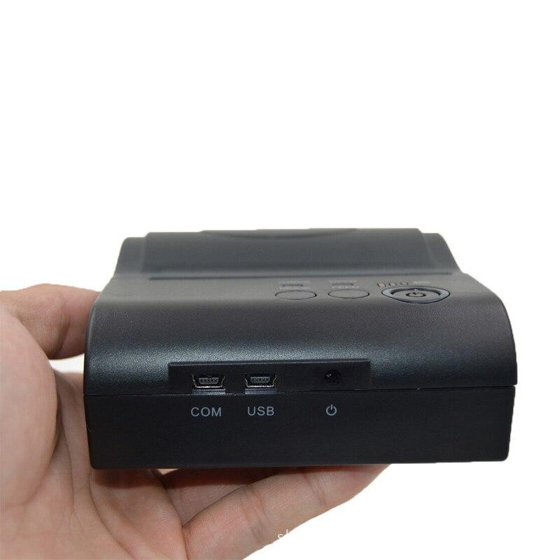 ZJ POS 8001LD con Interfaccia USB mini 58mm Bill Stampante Termica Per Ricevute di Biglietti Portable 80mm Bluetooth2.0 4.0 - 5