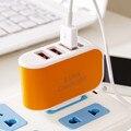 Eu plug para telefones inteligentes para samsung galaxy s7 s6 s5 xiaomi redmi note telefones s4for 3-port triplo usb carregador adaptador de parede