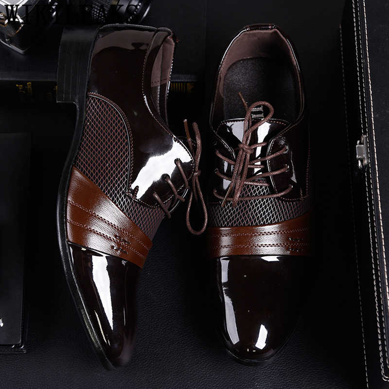 Sapatos oxford homens elegantes sapatos de casamento italiano homens para 2019 coiffeur marrom vestido sapatos formal dos homens clássicos da marca de grande porte zapatos