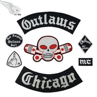 mc1931 Outlaw Forgives Embroidered Iron On Chicago Rider Biker Patch