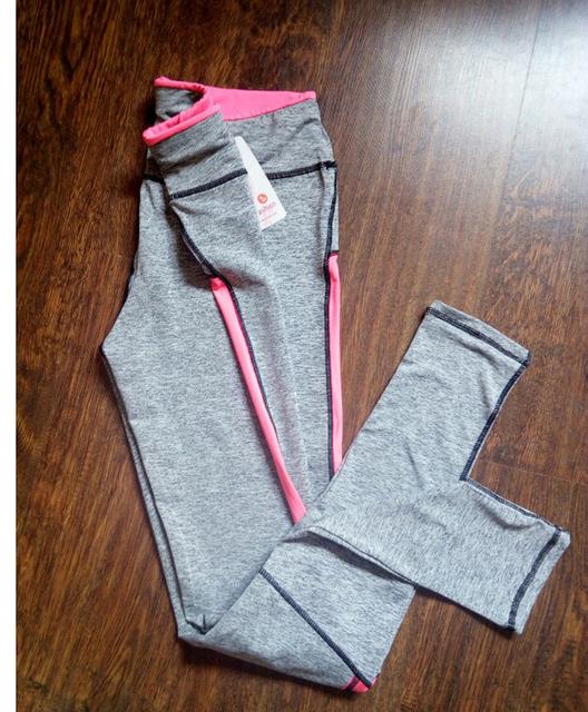 Szare legginsy z kolorowymi wstawkami