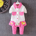 2016 the latest spring beautiful baby girl for South Korea casual cotton shirt + kids pants 2 sets of baby / newborn clothes
