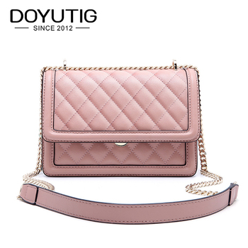 DOYUTIG Fashion New Diamond Grain Handbags For Lady Genuine Leather Squre Shape Crossbody Bags Women Luxury Shoulder Bags  F666