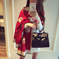 2017 bear scarf Lady pattern printing warm Brand imitation cashmere scarf female luxury Winter Scarf Shawl women long scarf