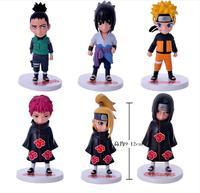 Naruto 6 Naruto Sasuke Deer Martial Arts Organization Action Figure Toys Collection Christmas Gift Doll