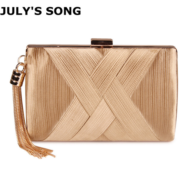 1fdfd420708 JULY S SONG Tassel Ladies Day Clutch Bag Small Shoulder Handbags Female  Party Wedding Evening Bag For Women Phone Purse