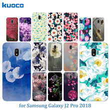 Clear TPU Cases for Samsung Galaxy J2 Pro 2018 / SM-J250F Silicone Blossom Pattern Shell for Galaxy J2 Pro 2018 5.0″ Covers