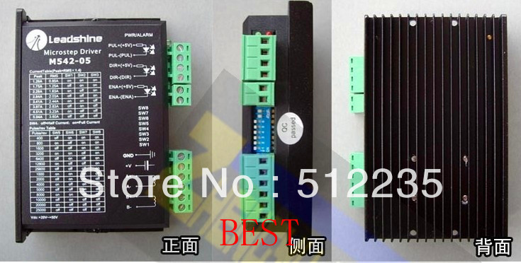 купить 3pcs/lot Leadshine M542 CNC Stepper Drive 2ph 1~4.2A 20~50VDC Matching Nema23 34 Original Leadshine M542 motor driver