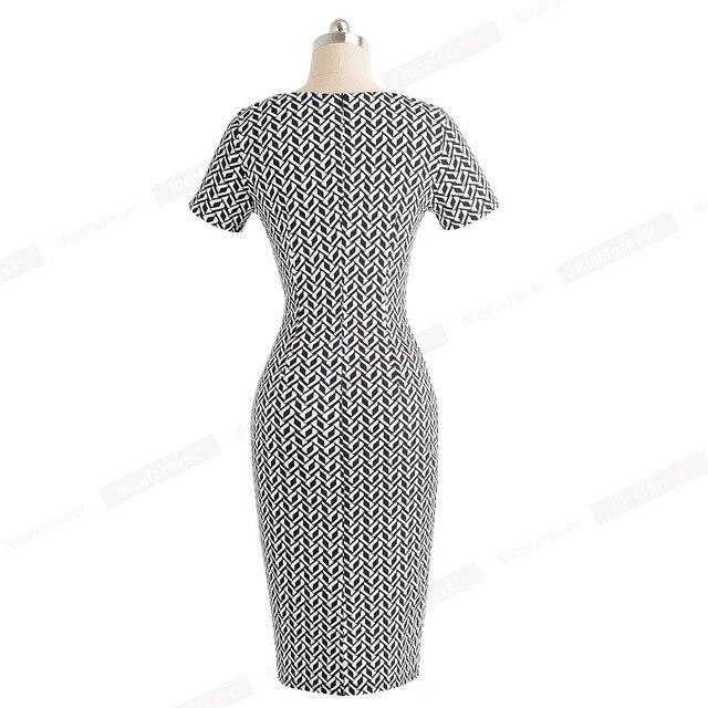 Vintage Wear to Work Elegant vestidos Business Party Bodycon Sheath 1