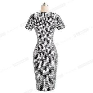 Image 2 - נחמד לנצח נשים בציר ללבוש לעבודה אלגנטית vestidos המפלגה עסקי Bodycon נדן משרד לפרוע נשי שמלת B452