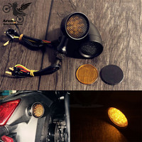 metal grid scooter accessories motorbike indicator flashing for yamaha harley softail sportster moto turn signal motorcycle LED