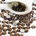 CCBLING ss3-ss30 Smoked Topaz de Cristal Prego Strass Apartamento de Volta Não Hotfix Glitter Pedras Prego, 3d DIY Nail Decorações de Telefones