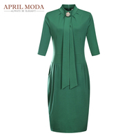 Plus Size 50s Vintage Bodycon Dress 2017 New Arrival Summer 5XL 6XL Green Hips Wrapped Women