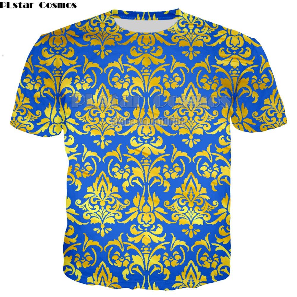 Novelty 3D Golden Chain Print Brand T-shirt newest Short Sleeve Luxury Royal Men women Clothes Hip Hop Tops Tees large size