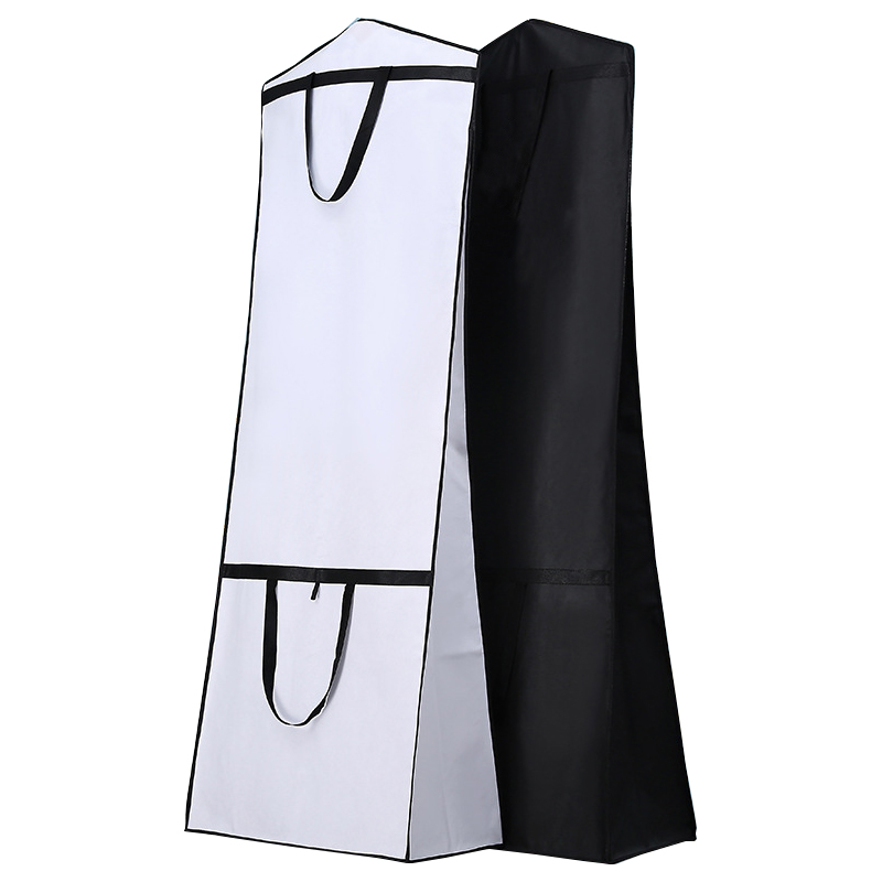 Dual-use Foldable Thicken Wedding Dress Dust Cover Women Gown Robe Storage Bags For Home Long Section Clothes Protector FG001