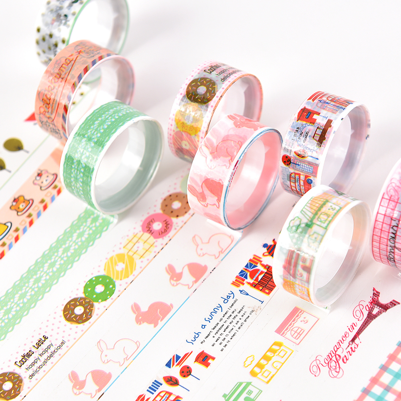 Inventive 12 Rolls 2m Laser Tape Decorative Sticky Stationery Adhesive Sticker Kids Tape Scrapbooking Tools Stickers Office Tape Office & School Supplies
