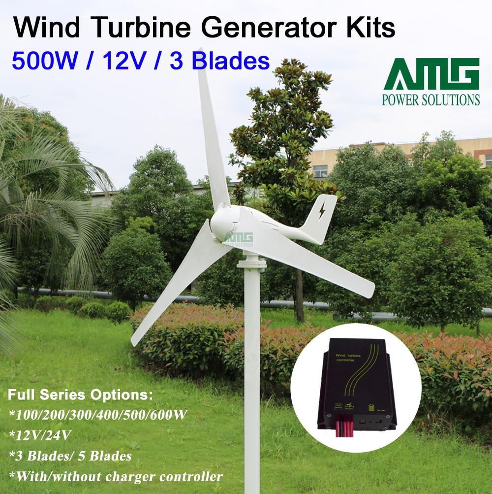 6730810f08d 500 W 12 V 3 lâminas de vento de baixa start up barco horizontal gerador de turbina  do moinho de vento + vento carregador inteligente à prova d  água ...