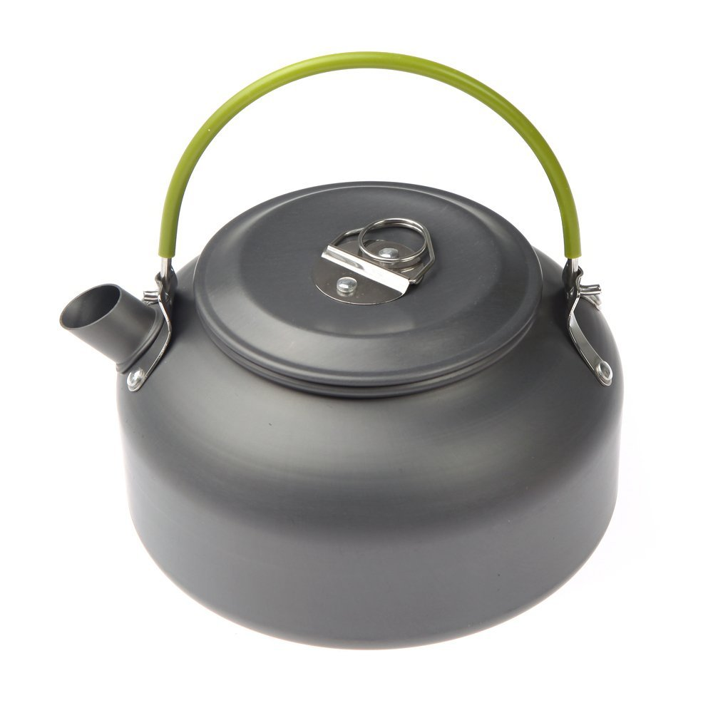 0 8L Portable Ultra light Outdoor Hiking Camping Survival Water Kettle Teapot Coffee Pot Anodised Aluminum