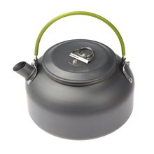 FJS!0.8L Portable Ultra-light Outdoor Hiking Camping Survival Water Kettle Teapot Coffee Pot Anodised Aluminum