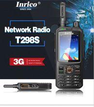 Ban Đầu Inrico T298S SIM 3G WCDMA Bộ Đàm Điện Thoại Di Động 4000MAh Pin Có Màn Hình Cảm Ứng Công Cộng Mạng Đài Phát Thanh android