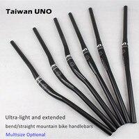 Ultra light and extended bend/straight mountain bike MTB handlebars 640mm 660mm 680mm 700mm 720mm 740mm * 31.8mm bicycle handbar