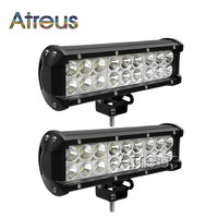 Atreus 1Pc 54W Car LED Work Light Bar 12V Spot DRL fog lamp car styling For ATV 4X4 Truck 4WD Offroad Trailer SUV accessories