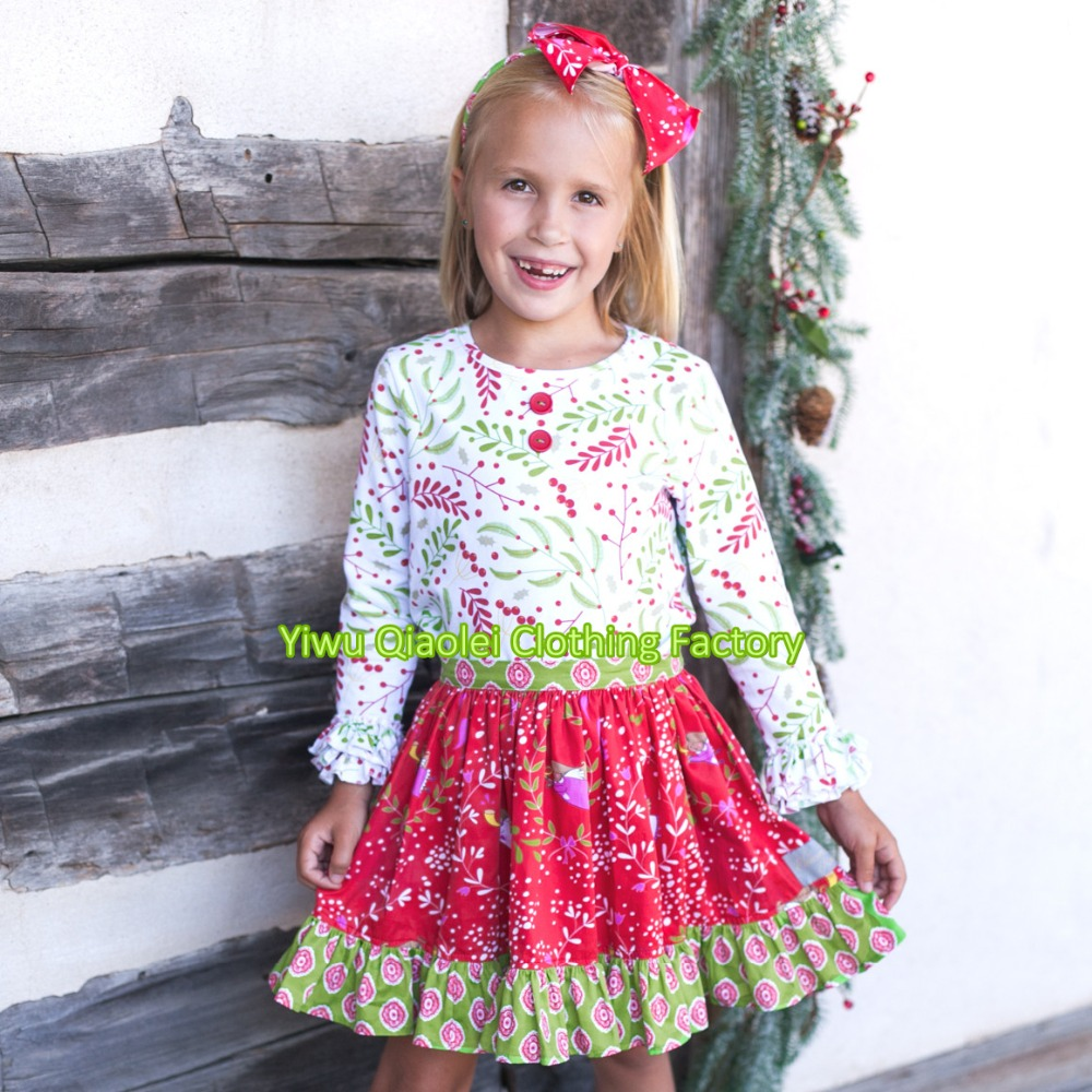 Wholesale Christams boutique outfits baby girls fall dress ...