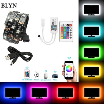 5V USB LED Strip 5050 RGB TV Background Lighting Tape 1M 2M 5M TV Light WIFI Remote Controller Sync With Sound Alexa Google Home