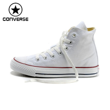 Original New Arrival 2017 Converse Classic Canvas Skateboarding Shoes Unisex High top Sneaksers