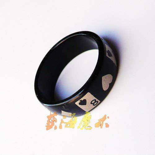 Black pattern Magnetic ring-magic ring-magic props-magic tricks-48%discount EMS-10pcs/lot