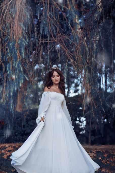 5bf2a6d05 ... Girls Fairy Chiffon Maxi Dress Womens White Dresses Long Lantern Sleeve  Fantasy Princess Elegant High Quality ...