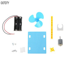 DIY Mini Fan Model Assembly Material Kit Children Student Intelligence Science Educational Toy