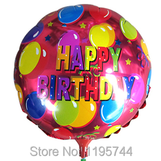 20Pcs/Lot, Free Shipping,8.5 Inch Happy Birthday balloon with Stick, Baby Shower