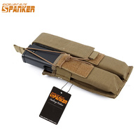 Spanker Outdoor Tactical Hunting Magazine Bag Military Bunches Nylon Molle Camo Vest Belt Paintball Shot KRISS