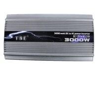 Высокое качество КЭ 3000 Вт 12 В автомобилей преобразователь DC 12 В к AC 220 В пик Мощность 6000 Вт автомобиля Мощность инвертор 3000 Вт адаптер Модифиц